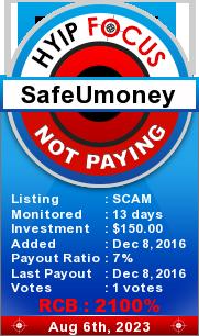 hyipfocus.com - hyip safe u money