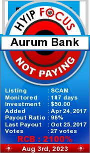 hyipfocus.com - hyip aurum bank