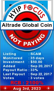 hyipfocus.com - hyip altrade global coin ltd