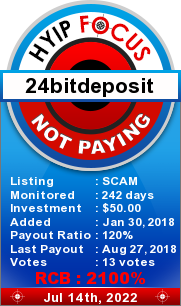 hyipfocus.com - hyip 24 bit deposit